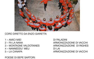 Coro LA CHIUSA di Volargne – Scaletta della serata