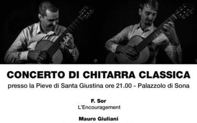 Concerto di chiatarra classica in Pieve